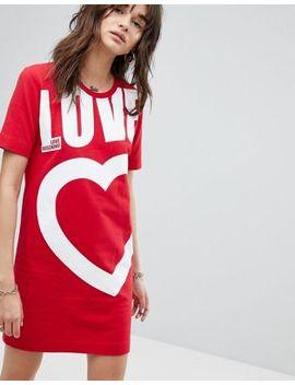 Love Moschino   Robe Sweat Motif Cœur by Love Moschino
