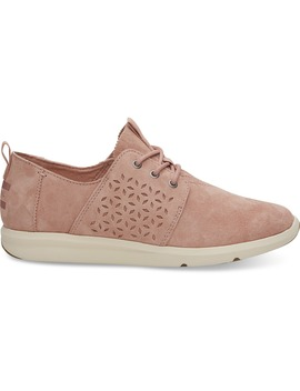 Bloom Perforated Suede Women's Del Rey Sneakers by Toms