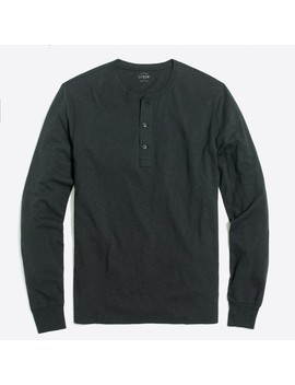 Tall Long Sleeve Slub Cotton Henley by J.Crew