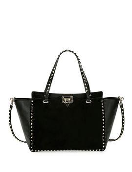Rockstud Medium Suede Tote Bag by Valentino Garavani