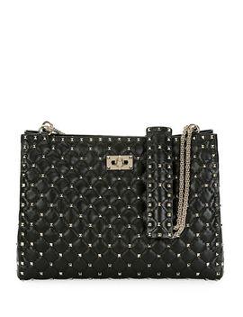 Rockstud Spike Crinkled Shoulder Bag by Valentino Garavani