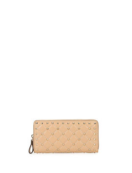 Rockstud Quilted Zip Around Wallet by Valentino Garavani