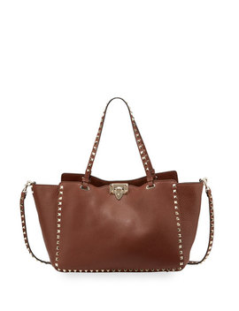 Rockstud Medium Grained Tote Bag by Neiman Marcus