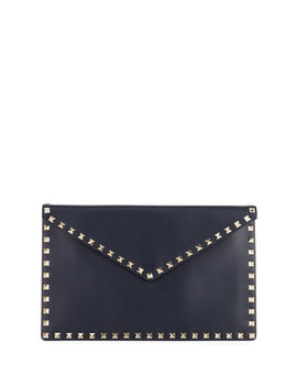 Rockstud Large Envelope Flat Pouch Bag by Neiman Marcus