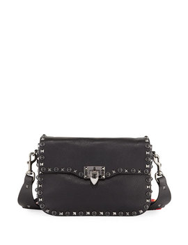 Guitar Rockstud Rolling Shoulder Bag by Valentino Garavani