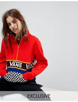 Vans Exclusive Half Zip Jacket In Colour Block With Checker Board Pocket by Vans