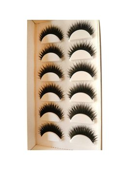 Fullkang 6 Pair Handmade Natural False Eyelashes For Party And Daily Use by Fullkang