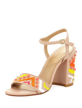 Both Embellished City Sandal by Stuart Weitzman