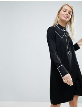 Monki Western Style Shirt Dress by Monki