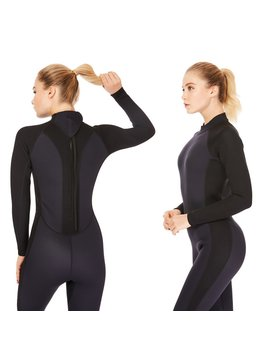 3mm Wetsuit Women,Dark Lightning Women's Wetsuit Long Sleeve Full Suit With Premium Neoprene Womens Suit For Scuba Diving / Surf / Canoe,Black by Dark Lightning