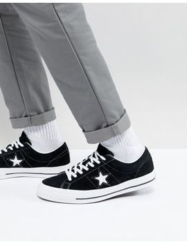 Converse One Star Ox Sneakers In Black 158369 C by Converse