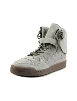 Adidas Forum Hi Moc Men  Round Toe Synthetic Gray Sneakers by Adidas