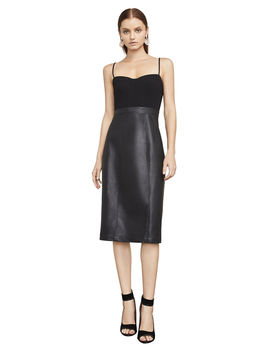 nalia-faux-leather-bustier-dress by bcbgmaxazria