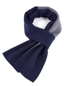 Men Cashmere Scarves Winter Scarf By Fullron   Long Wool Scarf (Navy,Gray) by Fullron