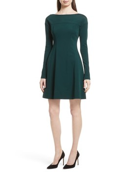 Valentina Scuba Knit A Line Dress by Theory