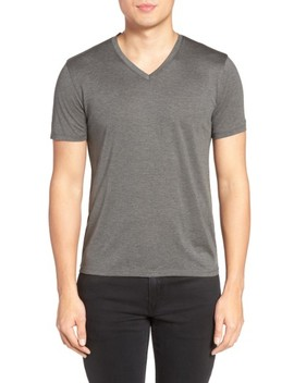 Silk & Cotton V Neck T Shirt by Theory