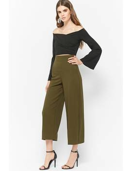 High Rise Crepe Culottes by Forever 21