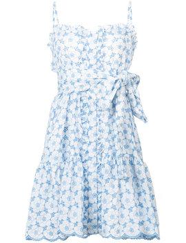 Cornflower Eyelet Ruffle Dress by Lisa Marie Fernandez