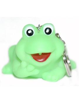 Cute Green Rubber Frog Key Chain (Kc023) by Ebay Seller