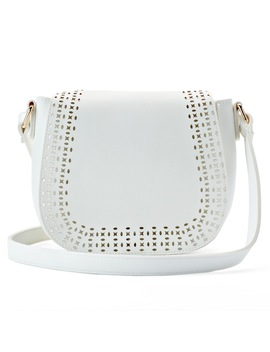 Olivia Miller Kaya Perforated Saddle Crossbody Bag by Kohl's