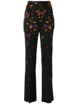 Floral Tailored Trousers by Givenchy