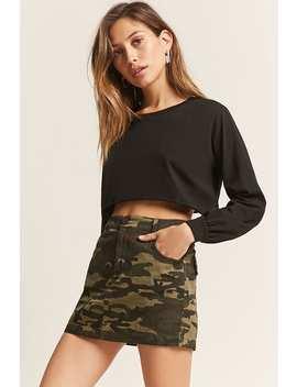 Denim Camo Mini Skirt by Forever 21