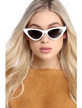White Classic Cat Eye Sunglasses by Windsor