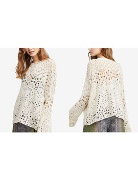Traveling Lace Cotton Sweater by Free People