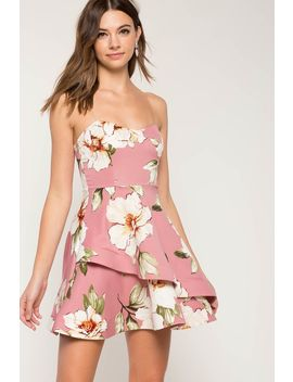 Julliet Floral Flare Dress by A'gaci