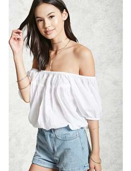 Puff Sleeve Peasant Top by Forever 21