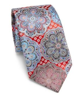 Quindici Printed Silk Tie by Ermenegildo Zegna