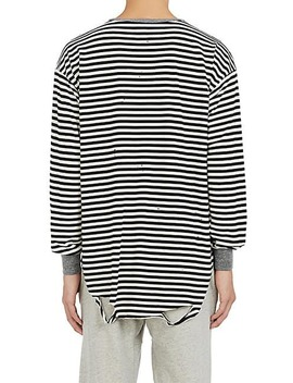 Striped Cotton Blend Long Sleeve T Shirt by Nsf