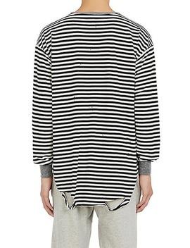 Striped Cotton Blend Long Sleeve T Shirt by Nsf