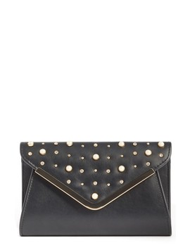 Studded Faux Leather Clutch by Bp.
