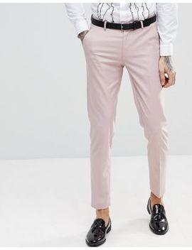 Asos Skinny Tuxedo Suit Pants In Dusky Pink by Asos