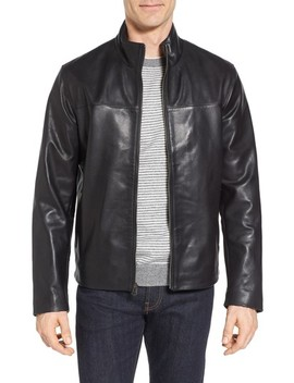 Washed Leather Jacket by Cole Haan Signature