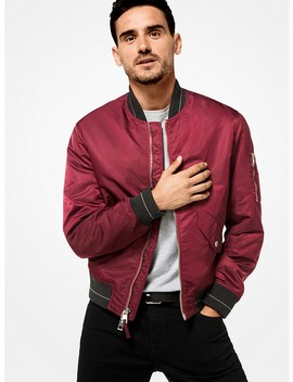 Sateen Bomber Jacket by Michael Kors Mens