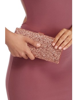 Rose Faceted Gem And Rhinestone Box Clutch by Windsor