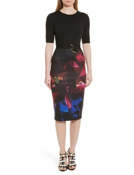 Alaxane Impressionist Body Con Dress by Ted Baker London