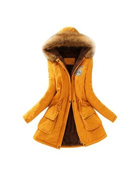 Womail® Womens Warm Long Coat Fur Collar Hooded Jacket Slim Winter Parka Outwear Coats by Womail