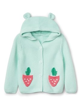 Berry Garter Hoodie Sweater by Gap