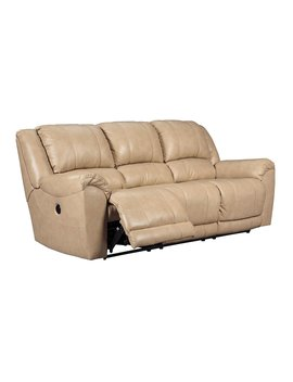 Signature Design By Ashley 2920287 Galaxy Contemporary Power Reclining Yancy Leather Upholstered Reclining Sofa by Signature Design By Ashley