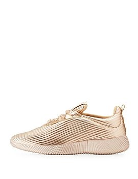 Striped Textured Lace Up Sneakers by Charlotte Russe