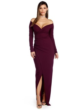 Dianna Plum Evening Wrap Dress by Windsor