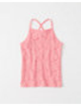 Fitted Lace Tank by Abercrombie & Fitch