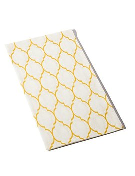 Gold Moroccan Design Cloth Like Guest Towels,1/6 Fold, 17 Inch X 12 Inch, 100 Units/Pack By Echo Beach Products by Echo Beach Products
