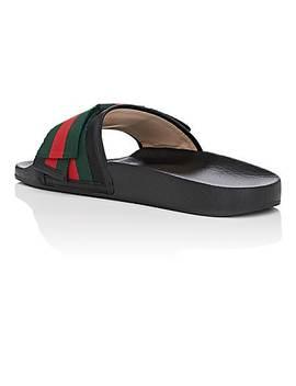 Pursuit Satin Slide Sandals by Gucci
