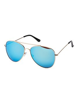 Classic Metal Aviator Sunglasses by Charlotte Russe