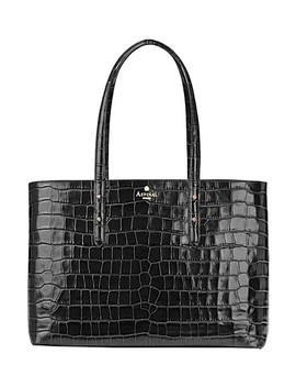 Regent Mock Croc Leather Tote Bag by Aspinal Of London