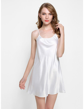 Satin Slip Nightdress by Sheinside